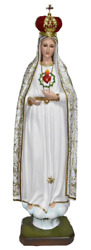 Our Lady Of Fatima Blessed Virgin Mary 50 Inch Fancy Religious Large Statue