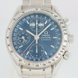 Omega Watch Speedmaster Triple Calendar Day-date 3523.80 Ss Menand039s Automatic
