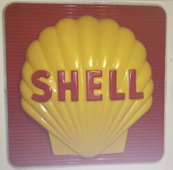 Vintage 1975 Shell Sign 72 X 72 X 11. Inches. Very Good Condition.