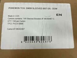 Pokemon Sm9 Team Up Sleeved Booster Case Of 144 Packs Factory Sealed English