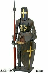 Medieval Full Body Armor Knight Antique With Helmet Base And Shield Costume