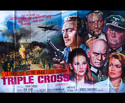 Triple Cross 5x8 Ft Double French Grande Movie Poster Original 1966
