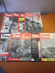 Lot Of 9 Railroad Model Trains Magazines 1950s Railroader 1951 To 1955 Vintage