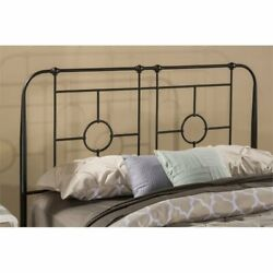 Hawthorne Collections King Metal Duo Headboard In Black Sparkle