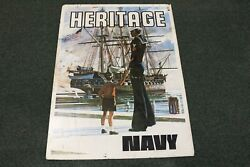 Original 1974 Navy Recruiting Metal Sign 2 Side Heritage And Guardians Of Freedom