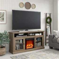 Ameriwood Home Chicago Fireplace Tv Stand Up To 65 In Rustic Oak