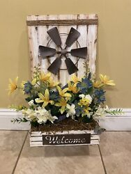 welcome sign home decor flowers hallway sign windmill sign