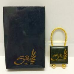 Rare Sia Singapore Airlines Keyring 50th Anniversary 1947-1997 Keychain A2105