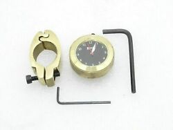 5x Black Dial Brass Handle Watch With Clamp Royal Enfield New Brand @t