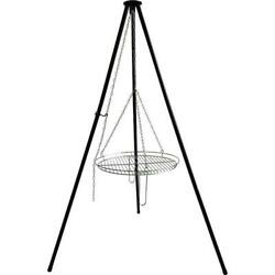 30 Black Steel Collapsible Legs Tripod Cooking Grate Outdoor Camping Fire Grill