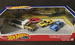 Hot Wheels Premium Set And03970 Dodge Hemi Challenger And03965 Mustang And03970 Camaro