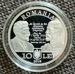 Silver Coin 100 Years The Adoption Of The Gregorian Calendar In Romania