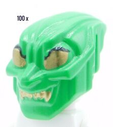 Lego Minifigure 100 X Authenticgreen Goblin With Gold Eyes Spider-man 1