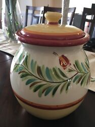 Southern Living At Home Gail Pittman Sienna Cookie Jar And Lid Discontinued