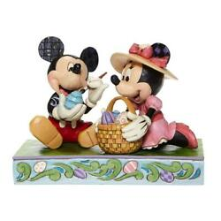 Disney Traditions Jim Shore Mickey And Minnie Easter Decorating Eggs New 6008319