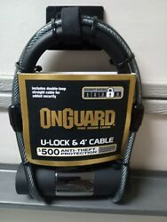 Onguard Bike U-lock And 4-foot Cable, Level 4 Security, 500 Anti-theft Warranty