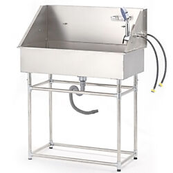 Stainless Steel 34 Pet Grooming Bath Tub For Dog Cat With Faucet Sprayer In Usa