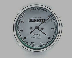 5x Royal Enfield 0-80 Mph Smiths Meter With White Face New Brand @t