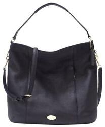 Coach Isabelle Pebbled Leather Hobo Cross Body Tote Purse in Midnight Blu 34511 $95.95