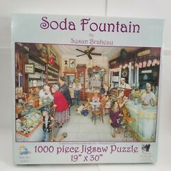 1950s Soda Fountain 1000 Pc Jigsaw Puzzle New In Box Sealed By Susan Brabeau