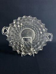 Fostoria Glass Co. Clear Pressed Glass Handled Cake Plate American 1915 - 1920s