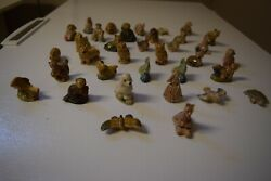 Lot Of Wade Red Rose Tea Figurines. 35 Pieces.