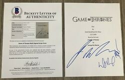George R.r. Martin Benioff And Weiss Signed Game Of Thrones Pilot Script And Bas Coa