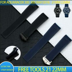 21 22mm Thin Rubber Silicone Watchband Strap For Tag Heuer Aquaracer 300/500