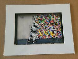 Martin Whatson Official Miami Wynwood Walls Behind The Curtain Coa 12x16 Matted