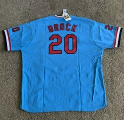 Nwt Vintage Authentic Lou Brock Jersey Mitchell Ness St Louis Cardinals 4xl 60