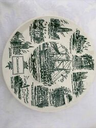 Connecticut Collector's Plate Kettlesprings Kilns N-40s Lith O Sketch