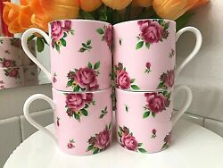 Royal Albert New Country Roses Modern Casual Coffee Mugs Tea Cups Set Of 4 Or 2