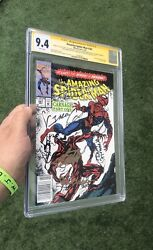 Amazing Spider-man 361 Cgc 9.4 - 1st Full Carnage Newsstand Signed 7x Stan Lee