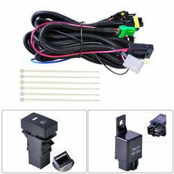 H11 Fog Lights Wiring Harness Sockets Wire Led Indicators Switch 12v 40a Relay