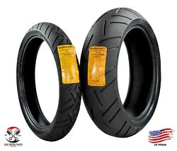 Continental Sport Attack 3 110/70zr17 Front 190/55zr17 Rear Motorcycle Tires Set