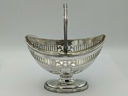 George Iii Period Silver Sugar Basket Robert And David Hennell London 1801 231g