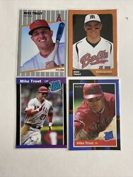 2009 Mike Trout 4 Card Rookie Lot Hot