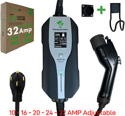 Primecomtech Level 2 30and039 40and039 50and039 Electric Vehicle Ev Charger Amperage Adjustable