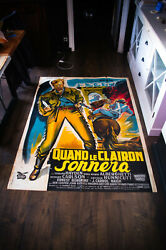 The Last Command 4x6 Ft Vintage French Grande Movie Poster 1955 Used