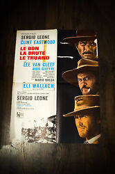 The Good Bad And Ugly 24 X 32 French Moyenne Movie Poster Original 1966 Used