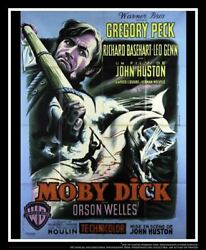 Moby Dick 4x6 Ft French Grande Original Vintage Movie Poster 1956