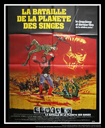Battle For The Planet Of Apes 4x6 Ft French Grande Movie Poster Original 1973