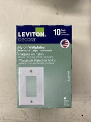 Gfci 1-gang Wallplate Outlet Cover White Decora Mid-size Leviton 10 Pack