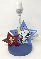 Peanuts Charlie Brown And Snoopy Star Lamp Baseball Theme Discontinued 12