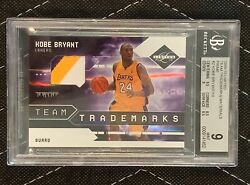 Kobe Bryant Limited Jersey Patch Card 7/10 Lakers Bgs 9 09-10 Trademark Amazing