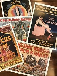 Lot Of 5 - Ringling Bros. And Barnum And Bailey Circus Poster Reproduction