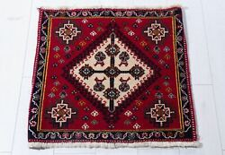 1and039 11 X 2and039 Pair Small Vintage Rugs 2x2 Red Tribal Handmade Oriental Wool Carpet