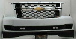 2015-2020 Chevy Tahoe Suburban Front Bumper Asm W/tow Summit White Oem F11