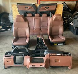 Bmw F10 Seats Sport Heated/cooling Panel Console Interior Assembly Oem 84k /b