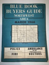 Detroit Blue Book Buyers Guide Northwest Area 1966 Directory Business Ads